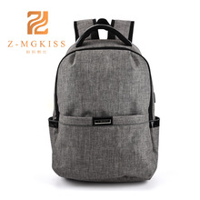 Men USB Casual bag Oxford cloth computer bag USB mobile phone rechargeable backpack Korean students high school bag(China)