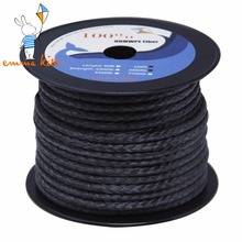 High Strength 4mm Outdoor Cord 3960lbs Kitesurfing Braided Line Paraglider Winch Rope For Camping Hiking Garden Use