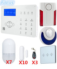 Focus Voice prompt GSM Alarm System Home Smart Alarm System With WebIE PC And APP Control