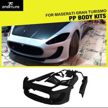 FRP Unpainted Auto Car Bumper Bodykits,Aerodynamic Part Body Kit with Door Fenders For Maserati Gran Turismo 11~12