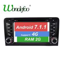 Android 7.1 CAR DVD GPS For Audi A3 with dvd player radio RAM 1G/2G ROM 16G/32G stereo Audio auto multimedia screen navigation(China)