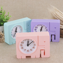 Cartoon Elephant Student Child Alarm Clock Electronic Personality Clock Plastic Bedside Station Clock Home Decoration Random(China)