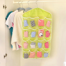 Clear 16 Pockets Socks Storage Bag Door Wall Hanging Closet Organizer for Shoe Toy Underwear Slippers Jewelry Sorting stockpile(China)