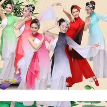 traditional chinese dance costumes women sleeve folk dance costume national costume for woman fan hanfu clothing performance(China)