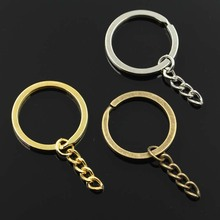 Buy 10pcs Key Ring Chain 3 Colors gold silver bronze Plated 30mm Round Split metal key chain DIY Keychain Keyrings Wholesale for $1.48 in AliExpress store