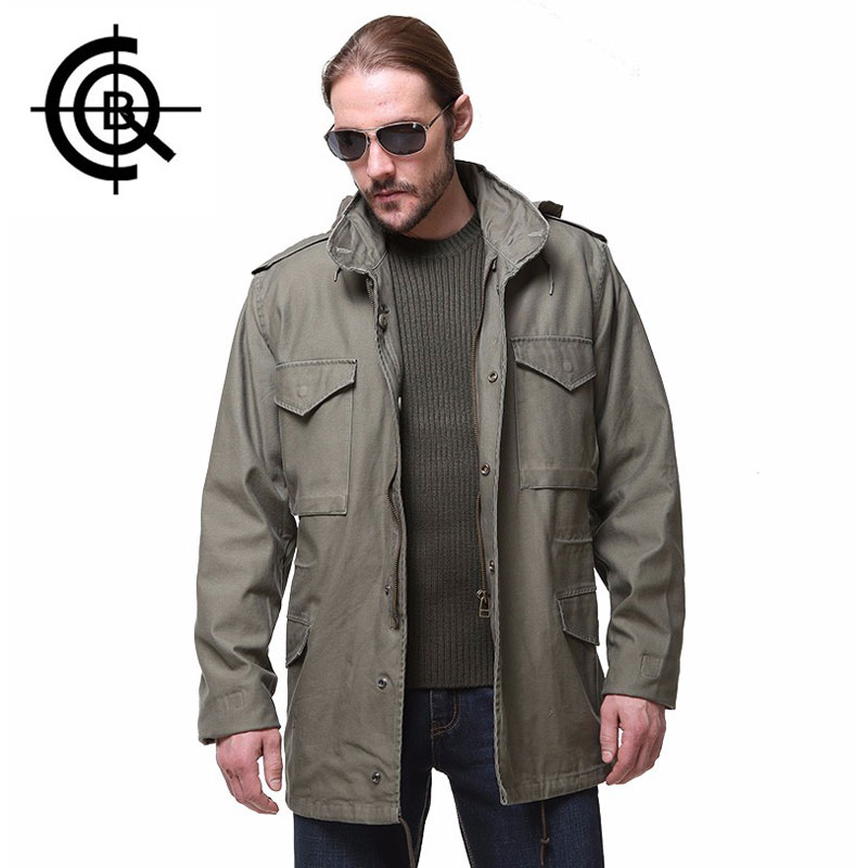 CQB Classic Outdoor Camping Trench Coat Long Jacket Mens Overcoat Cotton Hunting Windbreaker Brand Clothing Big Size SY0114<br><br>Aliexpress