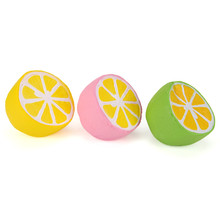 11CM Jumbo Squishy lemon Kawaii Squishy Cute fruit Slow Rising Decoration Phone Strap Pendant Squishes Gift toys doll