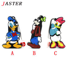 JASTER  Donald Duck usb flash drive Daisy Duck Goof dog pendrive 4gb 8gb 16gb 32gb cartoon memory stick u dick key chain