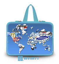 "New Light Blue Series Netbook Handle Hidden Soft Tote Neoprene Land And Logo Type10""13""14""15""17""Computer Grip Handbag For Sony"