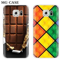 Phone case For Samsung S6 s6Edge S7 s7Edge bag Galaxy S8 S8plus fashion original diy Lego Chocolate hard pc shell brand cover