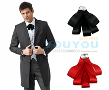 New Free Shipping fashion male MEN'S wedding Korean Men and women dress tie long sleeved shirt collar tie wholesale Headdress(China)
