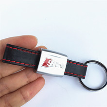 3D Car Sticker Black Red Line Leather Sport SLine Emblem Badge for Audi 3 A4 A5 A6 A8 TT RS Q5 Q7 S Line Keychain Keyring Keyfob