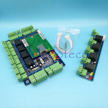 Best Quality TCP/IP rfid Access Control System Four Door one way Rfid Door Access Control Panel Board +Alarm Expansion Board L04(China)