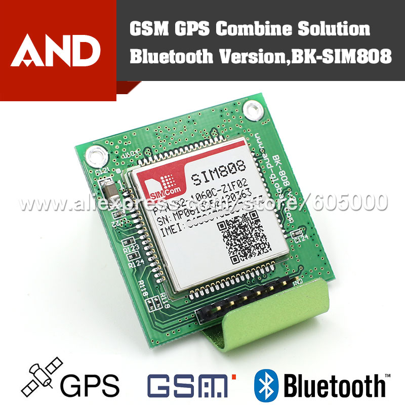 Free shipping SIM808 GSM/GPRS/GPS Module Quad Band,Development Board,support Bluetooth,Instead of SIM908(China)
