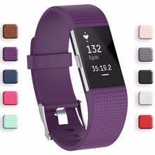 Meilleur prix Bracelet Dragonne Smart Montre de Courroie De Bande Souple Bracelet de Rechange Smartwatch Bande Pour Fitbit Charge 2(China)
