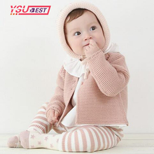 New Baby Girls Cardigan Sweaters Spring Baby Girl Solid Cotton Sweater Coat Children Knitted Coats Baby Winter Casual Clothes(China)