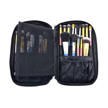 New Arrival 2017 Professional Brush Tool Bags Cosmetic Boxes Portable Polyester Zipper Bag makeup Brushes organizer necessaire