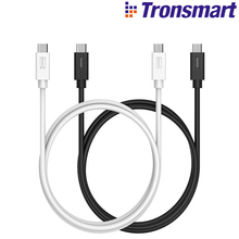 Tronsmart Sync & Charging Cable Type-C Male 2.0 to Type-C Male 2.0 1M CC06P / CC06 for ChromeBook Pixel Nexus 5X / 6P LG G5&More(China)