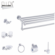 Aluminum Bathroom Accessories Set Towel Shelf Towel Holder Toilet Paper Holder Soap Holder Soap Dispenser EKY7100