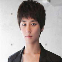 fast shipping high quality in stock wig heat resistant cheap mens wigs synthetic wig cosplay sexy Korean Boys short hair wigs