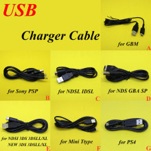 USB Charging Cord charger Wire cable for Sony PSP 1000 2000 3000 PS4 GBM GBA SP NDSI NDS 3DS 3DSLL/XL Controller Game Tools