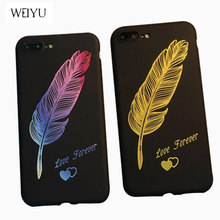 WEIYU For iphone 7 case Soft silicone Colorful Love Text Phone Cases For Apple iPhone 6 6S 7 8 Plus X 5 5S SE Cover Accessories(China)