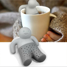 Unique Cute Tea Strainer, Interesting Life Partner Cute Mr Teapot Silicone Tea Infuser Filter Teapot for Tea & Coffee Drinkware