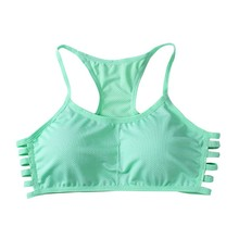 Summer Women Push Up Sport Bra Cotton Stretch Fitness GYM Yoga Tops No Rims Padded Crop Top