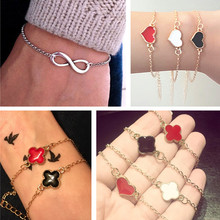 One Direction Infinity 8 Heart Flower Bracelet Women Wedding Jewelry Accessories Men Bijoux Bangle Girl Cross Pulsera Fashion(China)