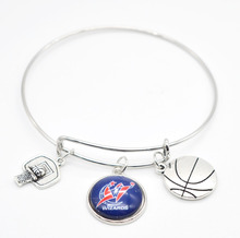 2017 New Basketball Charm Washington Wizards Bracelets&Bangle for Women Super Bowl Fans Jewelry