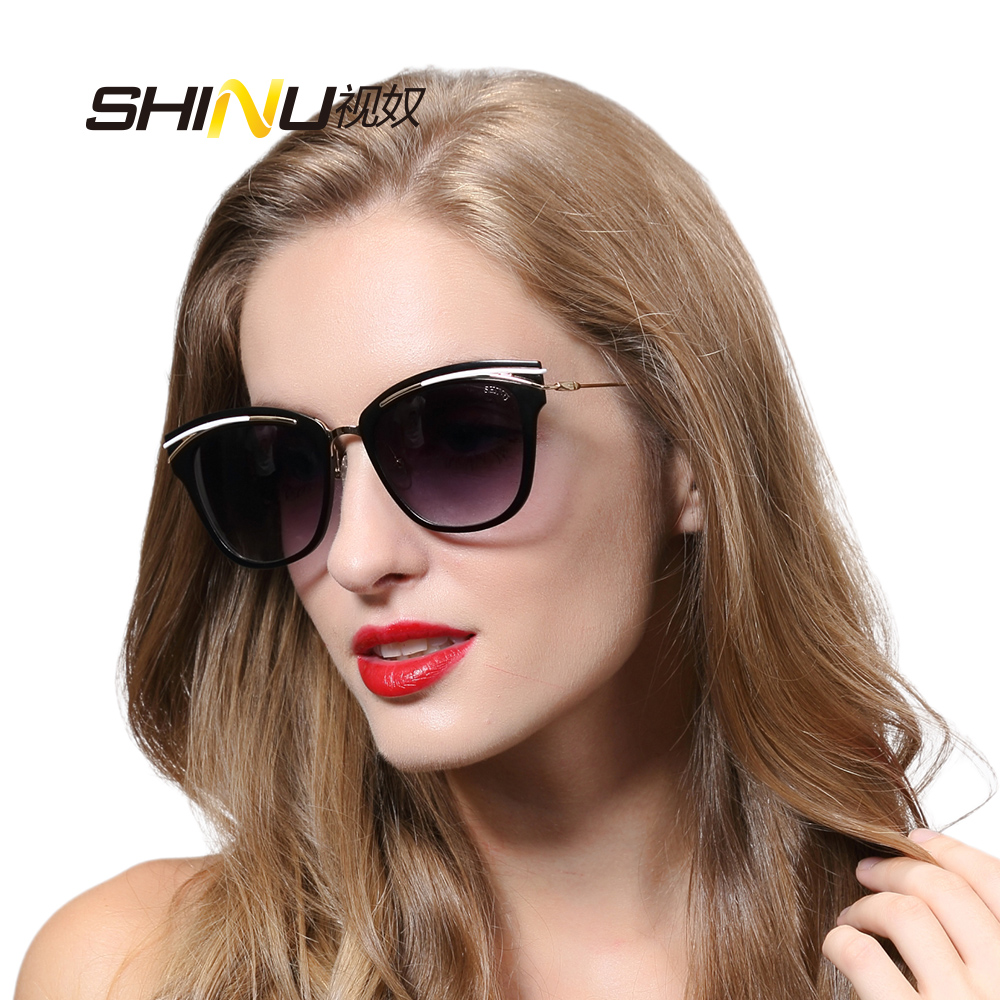 SHINU Women Sunglasses Luxury Brand Designer With Logo And Box UV400 Cat Eye Sunglasses Oculos De Sol Feminino SH710014<br><br>Aliexpress