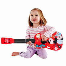 Large Size 59CM Cartoon Red Blue Guitar Toys 4 Nylon Strings for Kids Baby Children Musical Instrument Educational Gift(China)