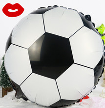 XXPWJ Free shipping new style football aluminum balloons party balloon wholesale children's toys 20 pcs/lot