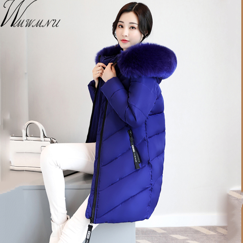 Wmwmnu big fur collar Winter Women Coat Jacket Woman Parka Long Warm Winter Coat With Hood casual cotton padded thickening coatÎäåæäà è àêñåññóàðû<br><br>