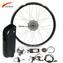 "20"" 48V 500W Electric Bike Kit with Lithium ion Battery USB Front Hub Motor Wheel e-bike ebike Electric Tricycle Conversion kit(China)"