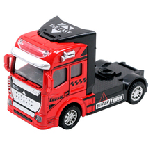 Heavy Truck Cars 3 Car Vehicles Toys 1:50 Engineering Diecast Trailer Headstock Metal Model Monster Truck Best Toys For Boys(China)