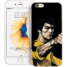 Fundas Bruce Lee Kongfu Star Clear Soft TPU Silicone Phone Cover for iPhone 7 7Plus Case for iPhone 5S 5 SE 6 6S 6Plus 4S 4 Case(China)