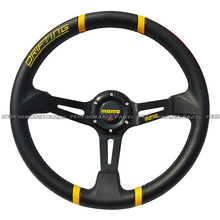 LYJ 14inch Racing Car Steering Wheel Yellow Drifting Steering Wheel 350mm
