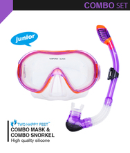 new design food grade silicon Snorkeling set Diving Mask + Dry Snorkel for children purple
