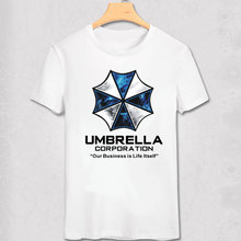 umbrella Resident Evil movie loose Printed Mens Men T Shirt Tshirt Fashion New Short Sleeve O Neck T-shirt Cool Tee Hot Sale(China)