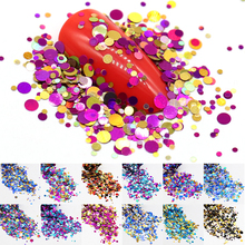 12Boxes Colorful Nail Glitter Sequins Dust Round Shiny Metal Color Mixed Nail Sparkle Flakes Manicure Nail Art Decorations