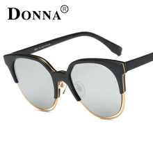 DONNA Reflector Sunglasses Women Darkened Black Aviator Sunglasses For Women D43