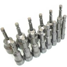 "14pc 6mm-19mm 1/4"" Hex Socket Magnetic Nut Driver Adapter Drill Bit Holder Setter 6, 7, 8, 9, 10, 11, 12 ,13,14,15,16,17,18,19mm"