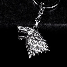 Fashion Anime Game of Thrones Keychain For Men Trinket Portachiavi Car Keyring Key Chain Ring Chaveiro Jewelry Gift Souvenirs