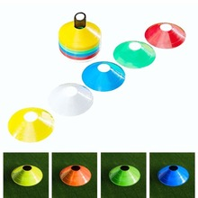 Soft Disc Football Training Sign Dish Pressure Resistant Cones Marker Discs Marker Bucket PVC 50pcs/Set Sports Accessories New