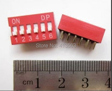 50pcs 6P 6 Position DIP Switch 2.54mm Pitch 2 Row 12 Pin Slide DIP Switch   30637