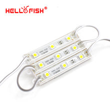 Hello Fish 100pcs DC12V 5050 3 LED Modules Green/Red/Blue/White/Warm White IP65 Waterproof