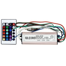 Free Shipping IP67 Waterproof 20W RGB LED Driver DC12-22V AC90-265V + 24 Key Remote Control For 20W RGB LED Night Light Lamp