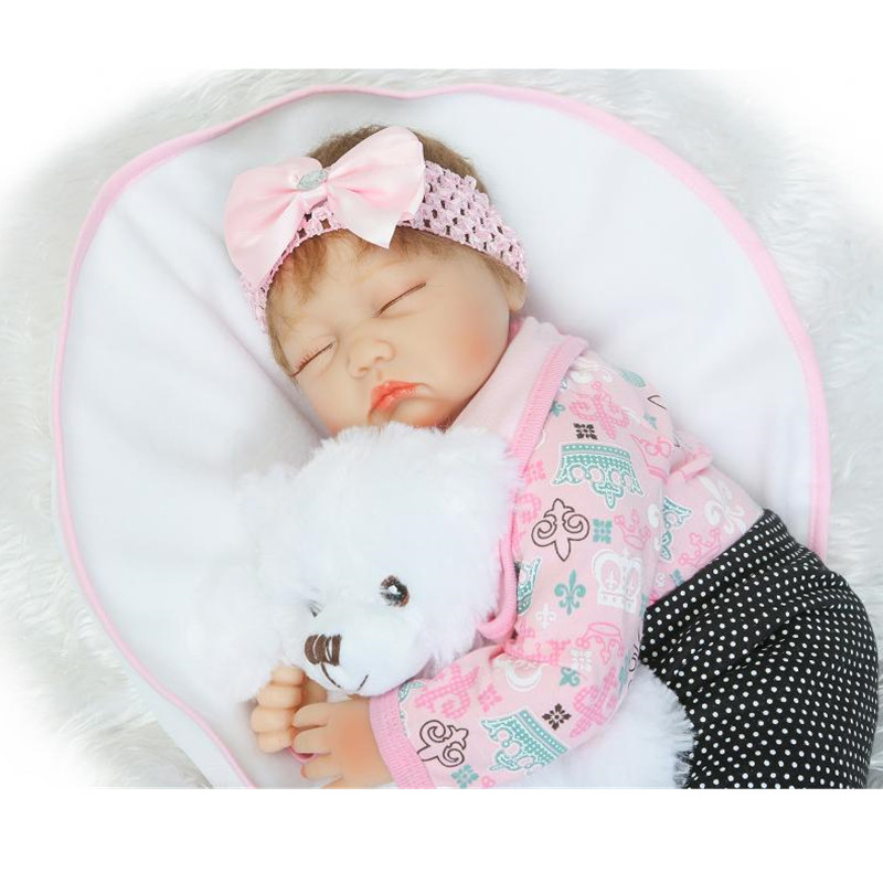 NPKCOLLECTION Rooted Hair 22 /55cm Lifelike Newborn Doll Realistic Reborn Baby Dolls Soft Silicone Girl XMAS Gift Brinquedos<br><br>Aliexpress