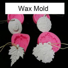 Leaf and woman pendant aroma wax tablets silicone mold Handmade crafts wax gypsum silicone mold car decoration ornaments gift